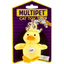 """Multipet Look Who's Talking Plush Toy 1.25""""-Duck"""