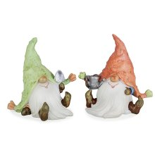 Heath & Logan the Fun Gardening Gnome Resin Ornament Set