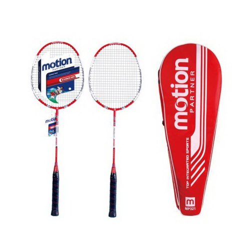 Restrung Badminton Rackets Red Rackets with Bag G3 Grip