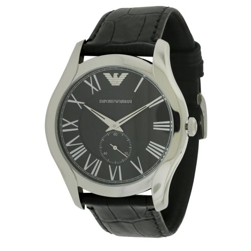 Emporio Armani Black Croco Leather Mens Watch AR1703