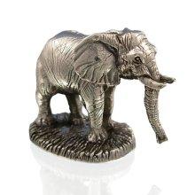 925 Sterling Silver Elephant Figure - International Wildlife.