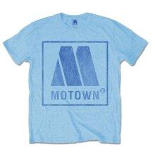 Motown Men's Vintage Logo Short Sleeve T-shirt, Blue, Medium