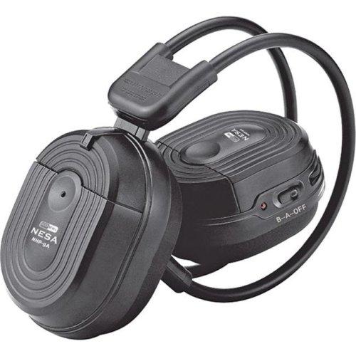Power Acoustik HP-900S Swivel Ear Pad 2-Channel RF 900MHz Wireless Headphones