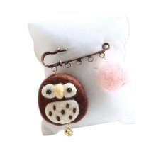 Cute Cartoon Animal Wool Felt Brooch Pin Clothing Accessories, Owl