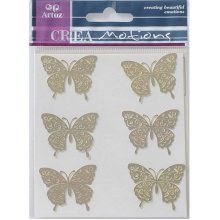 Gold Butterfly Metal Stickers By Artoz