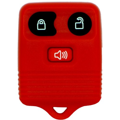 Fits Ford Transit Connect Maverick 3 Button Remote Red Key Fob Red Button Case