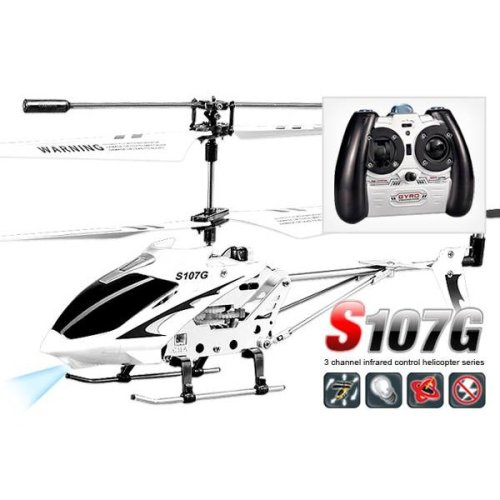 Syma S107G Infrared Controlled Helicopter with Gyroscopic Stability Control - White