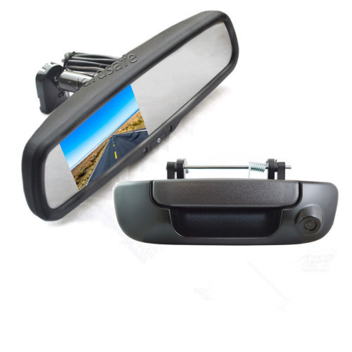 Vardsafe Rear View Parking Backup Camera + Replacement Mirror Monitor for Dodge Ram 1500 2500 3500 (2002-2008)