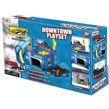 MAISTO FRESH METAL DOWNTOWN CAR PLAYSET