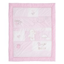 Obaby B is for Bear Quilt & Bumper 2 Pc Set - Pink