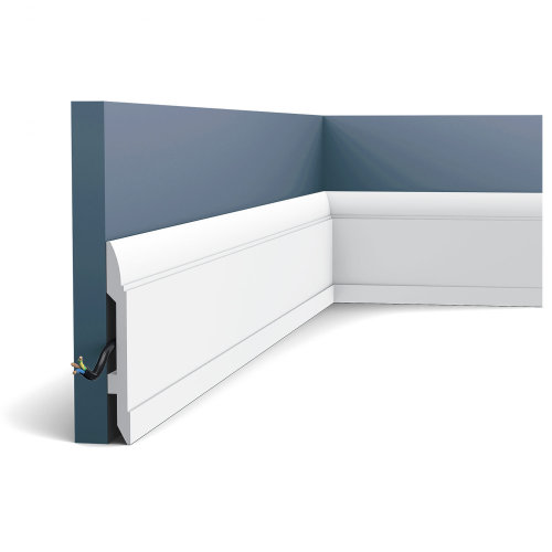 Orac Decor SX104 LUXXUS Skirting Panel Moulding Cable protection | 2 m