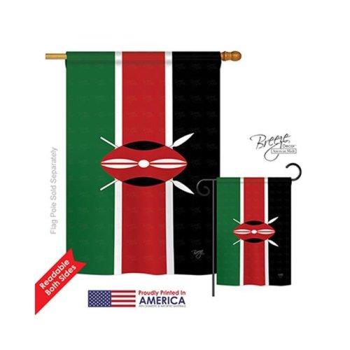 Breeze Decor 08242 Kenya 2-Sided Vertical Impression House Flag - 28 x 40 in.