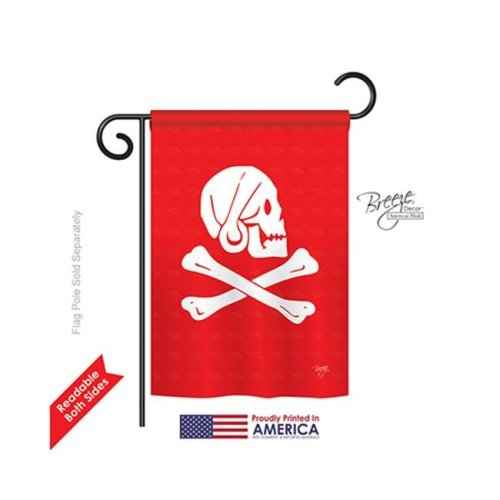 Breeze Decor 57036 Pirate Henry Every 2-Sided Impression Garden Flag - 13 x 18.5 in.