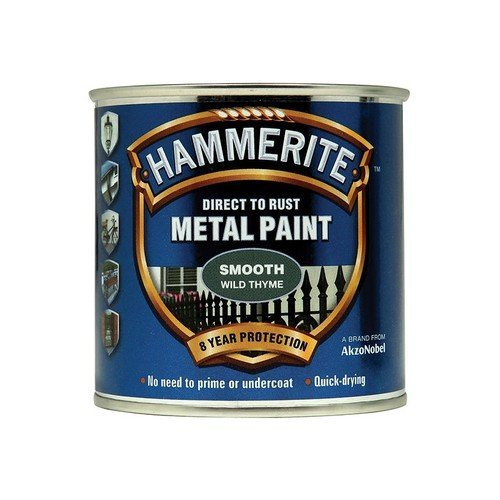 Hammerite SFWT250 Direct to Rust Smooth Finish Metal Paint Wild Thyme 250ml