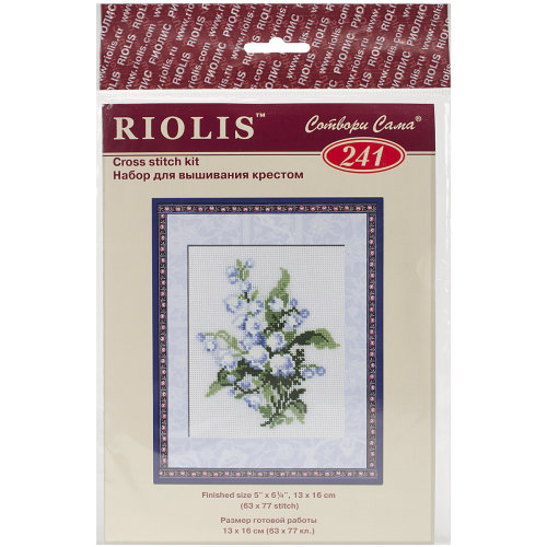 """Lily Of The Valley Counted Cross Stitch Kit-5""""X6.25"""" 16 Count"""