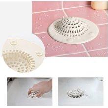 Silicon Bathroom Chuck Hair Filter Sink Drain Suction Cups