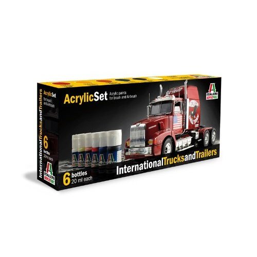 Italeri 510000435Acrylic Set International Trucks and Trailers