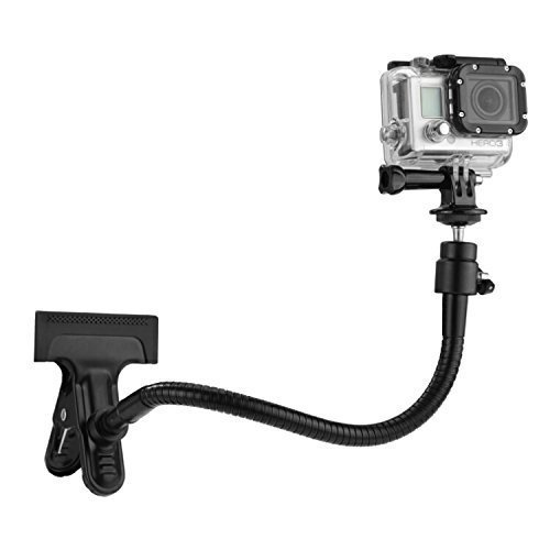 Clamp Mount for Gopro Fusion, Hero 6 Black, Hero 5 Black, Session, Hero 4, Session, Black, Silver, Hero+ LCD, 3+, 3, 2, 1 and Compact Cameras –...