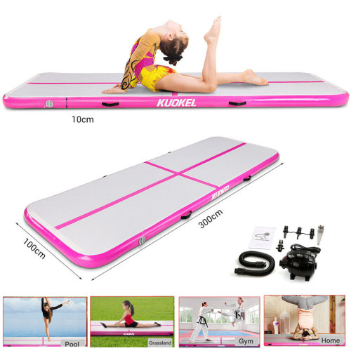 3M Inflatable Air Track Tumbling Gymnastic Mat Floor Yoga Mat+Pump