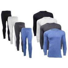 Mens Thermal Full Set Long Johns Full Sleeve Vest Top Warm Inner Legging Shirt