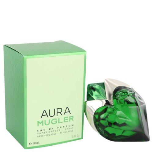 Mugler Aura By Thierry Mugler Eau De Parfum Spray Refillable 3 Oz On