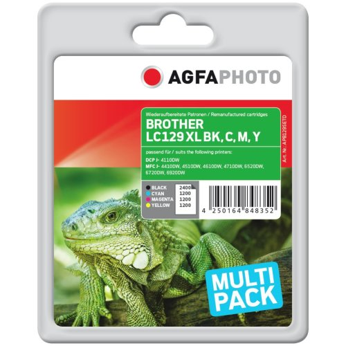 AgfaPhoto APB129SETD 2400pages 1200pages Black, Cyan, Magenta,...