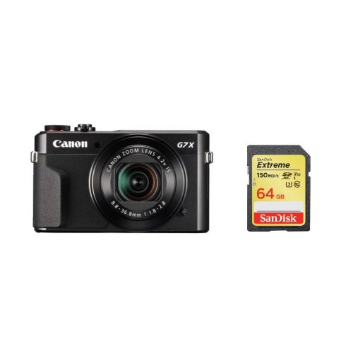CANON G7X II Black + SanDisk Extreme 64G SD card