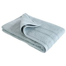 New Egyptian Cotton Soft High Quality Solid Color Washcloth Bath Towel Flannel, Light Blue (34x75cm)