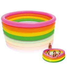 "66"" Sunset Glow Kids Paddling Swimming Pool Inflatable Garden Outdoor Pools New"