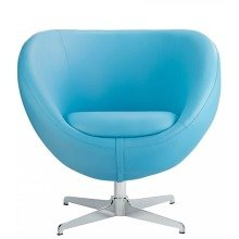 Balisy Modern Swivel Chair in Blue Contemporary Funky Design