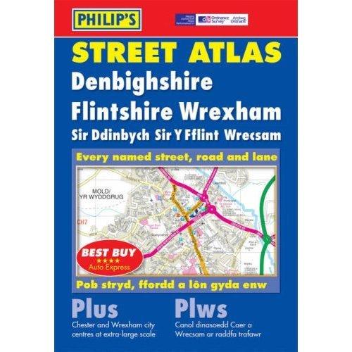 Philip's Street Atlas Denbighshire, Flintshire and Wrexham: Pocket
