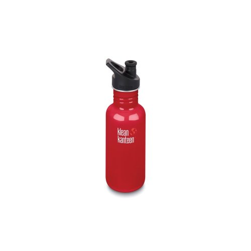 Klean Kanteen 532ml Water Bottle with Sport Cap (Mineral Red)