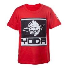 Star Wars Kids Boys Yoda Framed Closeup T-Shirt 158/164 Red TSY19614STW-158/164