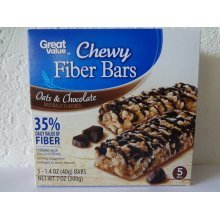 Great Value Chewy Protein Bars, Oats & Chocolate 5 ct-1.4 oz (40g)