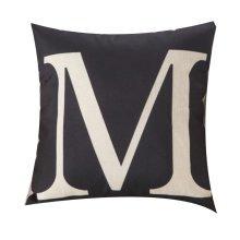 Black Bottom Letter Series Home Pillow