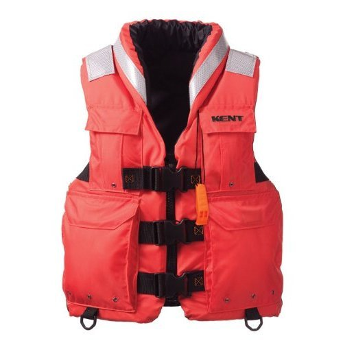 Kent Sar Search and Rescue Commercial Life Vest Persons over 90 Pounds Orange Large 40 44 Inch Chest