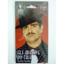 Black Spiv Tash, Black, Self Adhesive -  black spiv tash fancy dress gangster moustache 1920s accessory mens