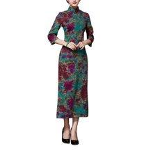 Vintage Elegant Dress Cheongsam Long Qipao Party Dresses for Women, #06