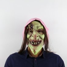 Halloween Old Witch Dance Props Horror Latex Mask