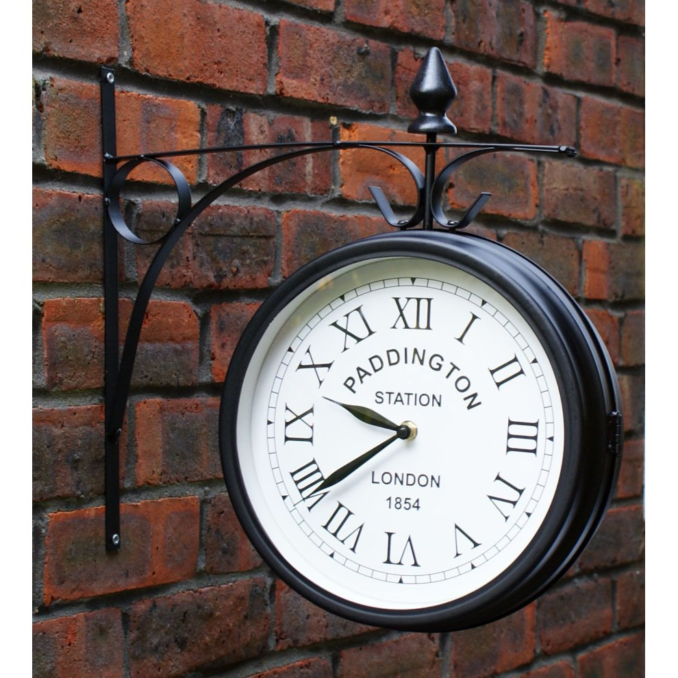 Outdoor Garden Paddington Station Wall Clock 20cm 3