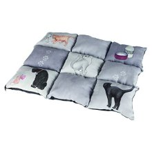 Trixie Cover Patchwork Cat, 55 x 45 cm Grey - Cats New -  trixie cats cover patchwork new