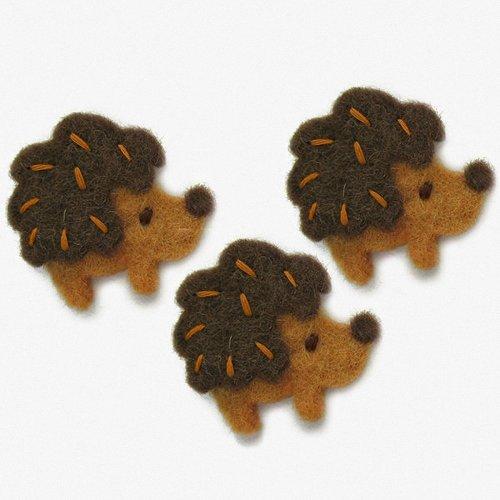 D72-74032 - Dimensions Wool Felt - Hedgehogs (set of 3)