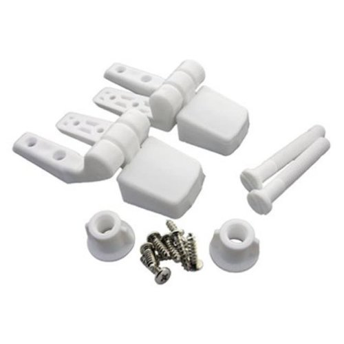 Larsen Supply 14-1039 Plastic Replacement Toilet Seat Hinge, 2 Piece, White