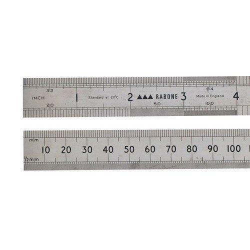 """Stanley 0-35-401 Rabone Precision Steel Rule 300mm 12"""""""