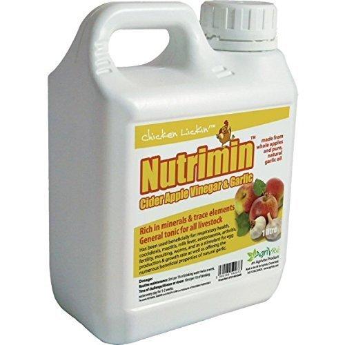 Nutrimin Cider Apple Vinegar and Garlic 1 Litre for Poultry Hatching Eggs