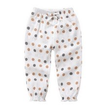 Comfortable Soft Children's Trousers, Beige Bottom And Dots