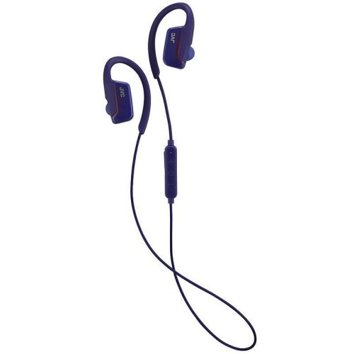 JVC AE Wireless Bluetooth Sports Clip Headphones - Blue (Model No. HAEC30BTA)