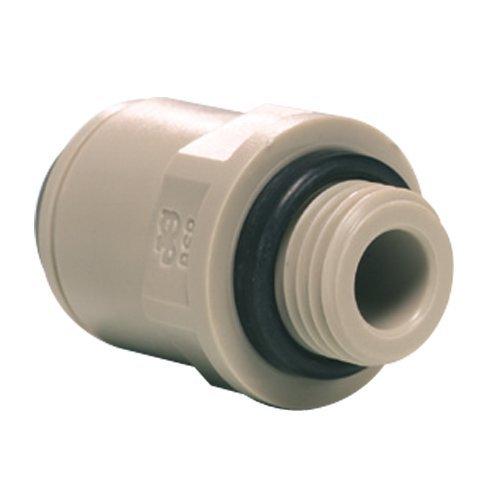 John Guest Straight Adaptor 3/8 inch Tube OD x 1/4 inch BSP Male Thread No Thread Seal (one supplied)