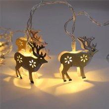 KCASA KT-9 Halloween Decorative  Elk Coloured Drawing  Lights  10 Lights