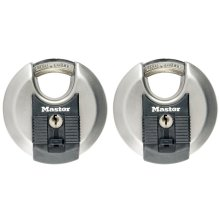 Master Lock Discus Padlock Excell 2 pcs Stainless Steel 70 mm M40EURT